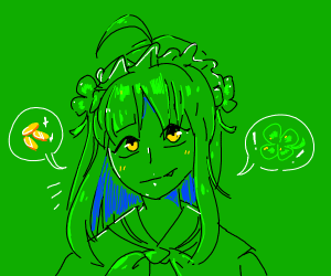 st. patricks day as an anime girl