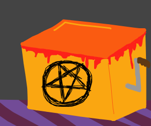 Demonic wind up box toy