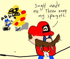 Mario has seen better days