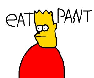 EAT MY SHORTS (bart Simpson)