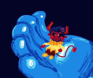 tiny angry demon