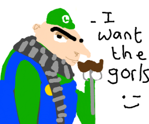 "Gruigi (Gru + Luigi) wants the ""gorls"""