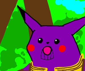 Surprised pikachu meme but with thanos