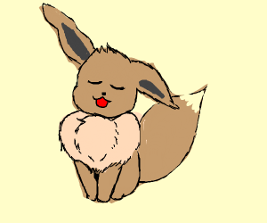 eevee and its cute