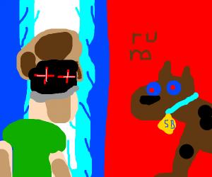 Ultra Instinct Shaggy vs Hyper Form Scooby