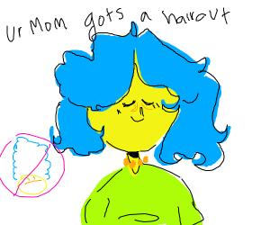 marge simpson got a haircut