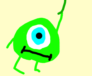 mike wazowski swinging