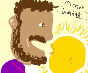 shaggy eating the sun