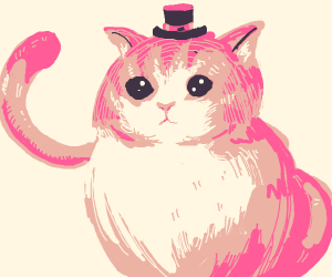Dapper, yet adorable kitten with tophat