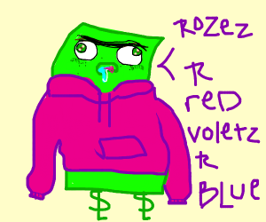 dolor bill say a poem in a pink sweter