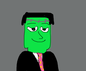 Frankenstein's Monster in a suit & tie