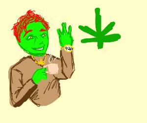 Ed the dank gnome likes green tea
