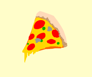 A thicc slice of pizza