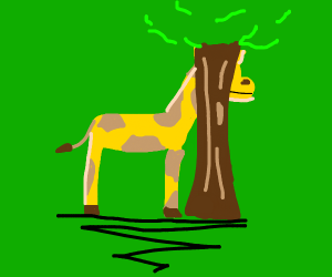 stop hiding behind that tree!