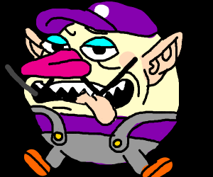 sexy waluigi with no arms and is a ball