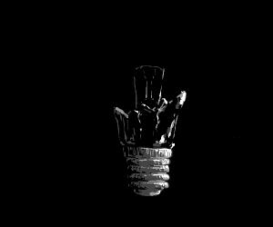 A broken lightbulb