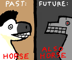 the past vs the future with horses