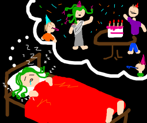 Medusa dreams of having birthday party