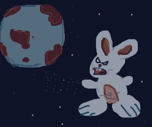 Bunny wants to eat planet Earth