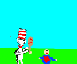 Cat in the Hat murdered someone with a bat