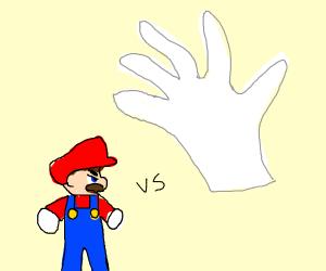 SSB Mario vs Master Hand