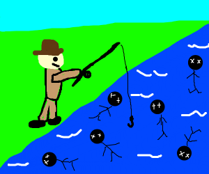 Fishing for dead people