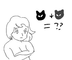 Girl wonders what Cat + Cat is