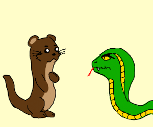Rikki Tikki Tavi introduces self to snake