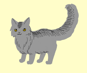 Grey cat (possibly a Warrior Cats char)