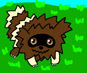 Furry Pokémon that looks like a raccoon