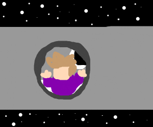 Gary looks out at space