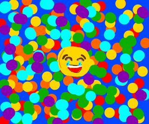 balls = laughing crying emoji