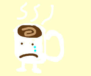 Coffee is hot and self conscious