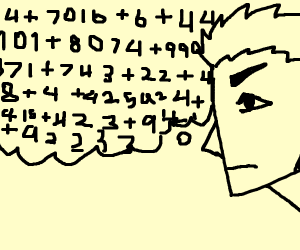 Angular person doing extreme addition