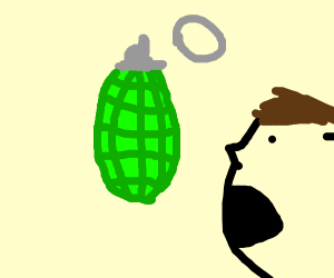 Grenade with Pin Removed