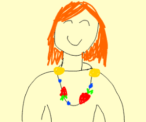 Lady with Fruit necklace
