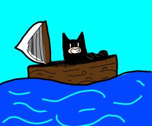 Batman on a Boat