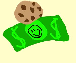 chocolate chip dollar bill