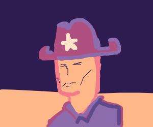 Cowboy in A Desert