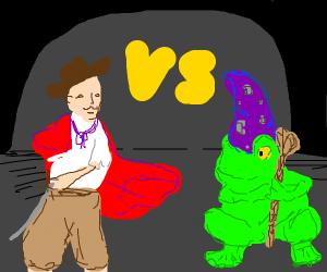 adventurer vs frog wizard