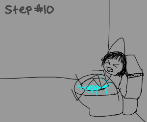 Step 9: Sleep on said toilet for hours