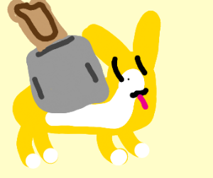 A Corgi that very much is a toaster.