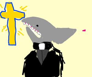 Shark as a priest?