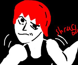 Anime girl shrugging