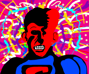 Superman trapped in the LSD Phantom Zone