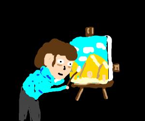 painting the pyramids