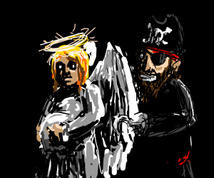 if an angel had a baby with a pirate