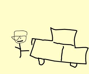 Man beside a car