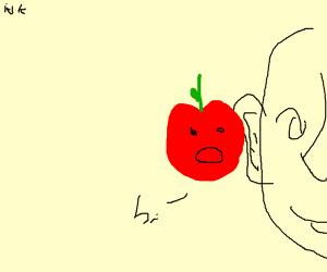 apple in someones ear