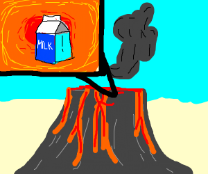 Milk in a Volcano